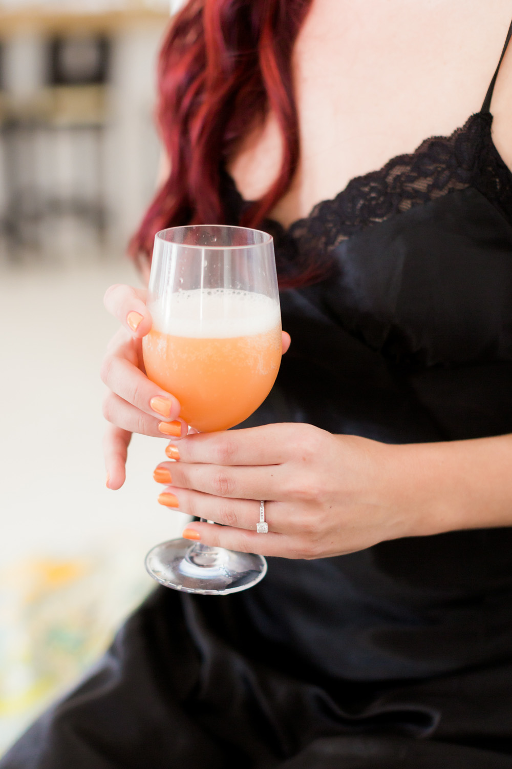 morning mimosa for the bride