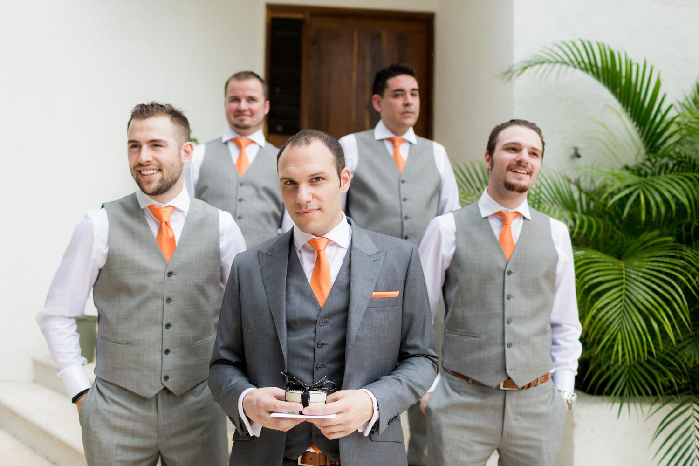 boys posing for the wedding