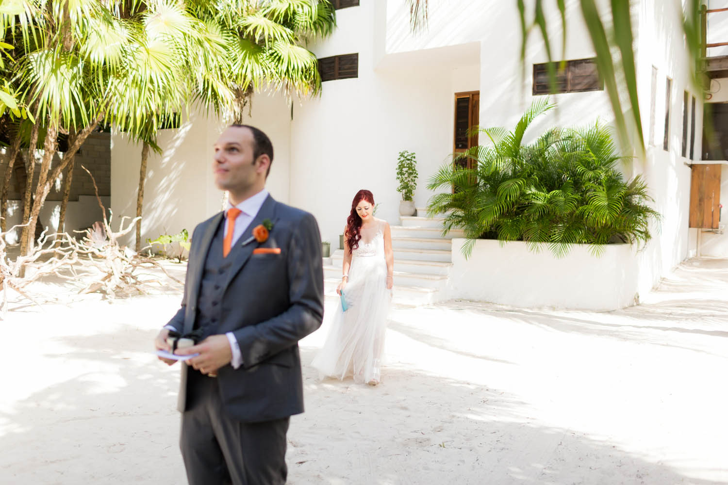 wedding first look Mexico