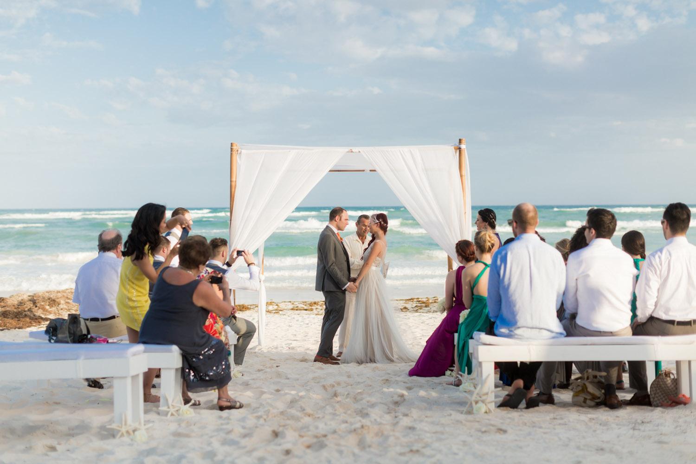 beach wedding ceremony Mexico
