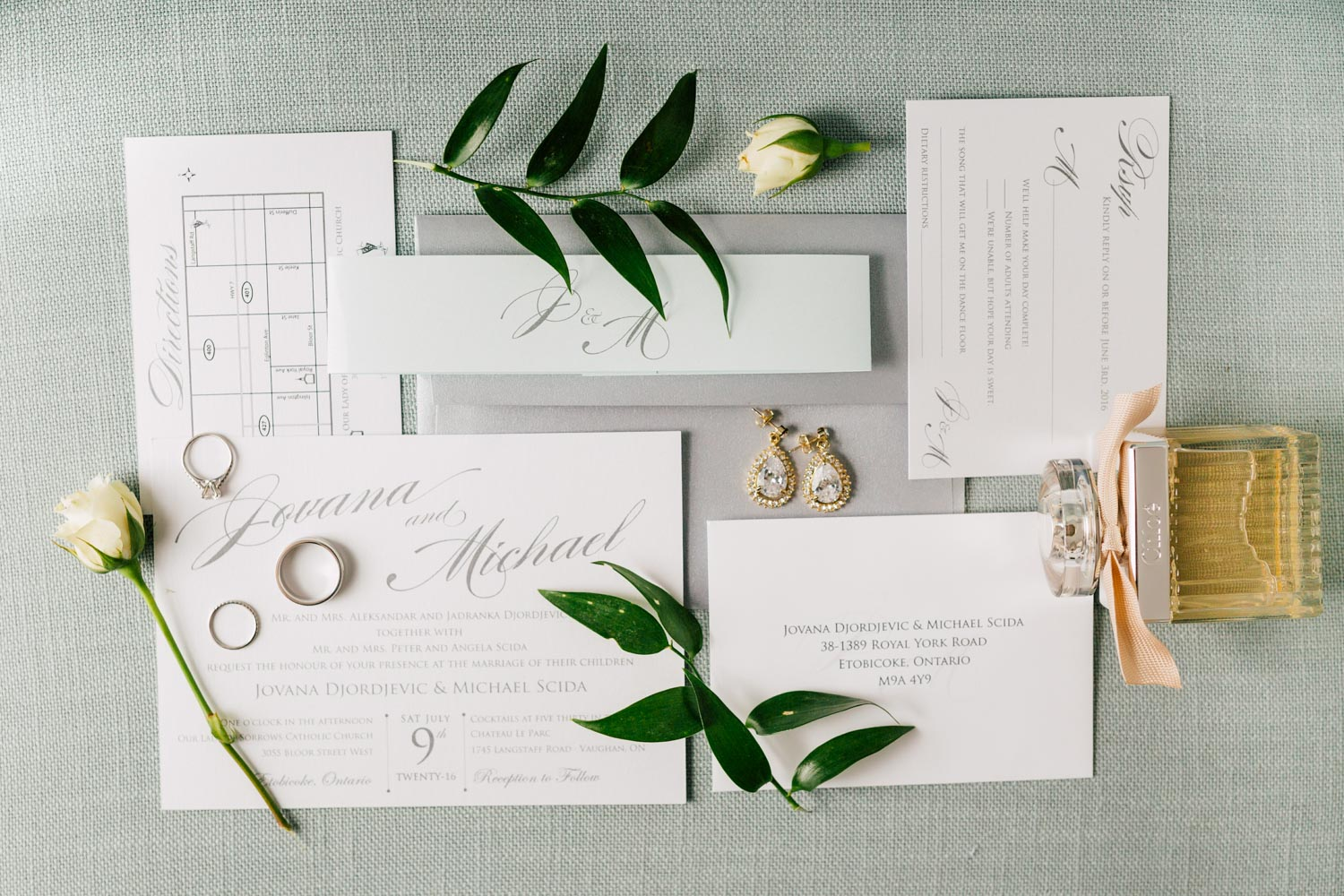 wedding stationary and details