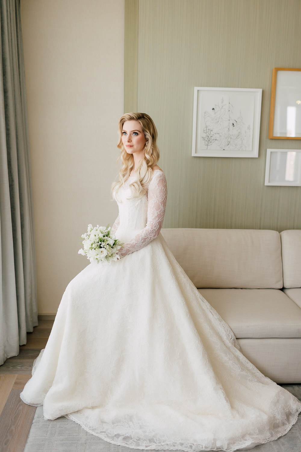 fox bridal gown