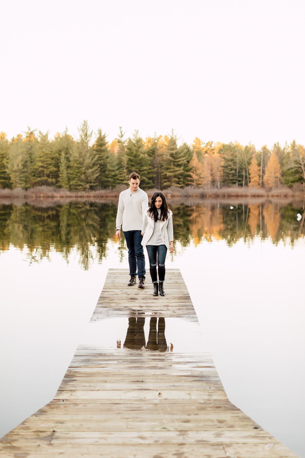 couple by the lake