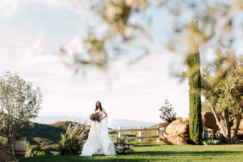 styled bride portrait