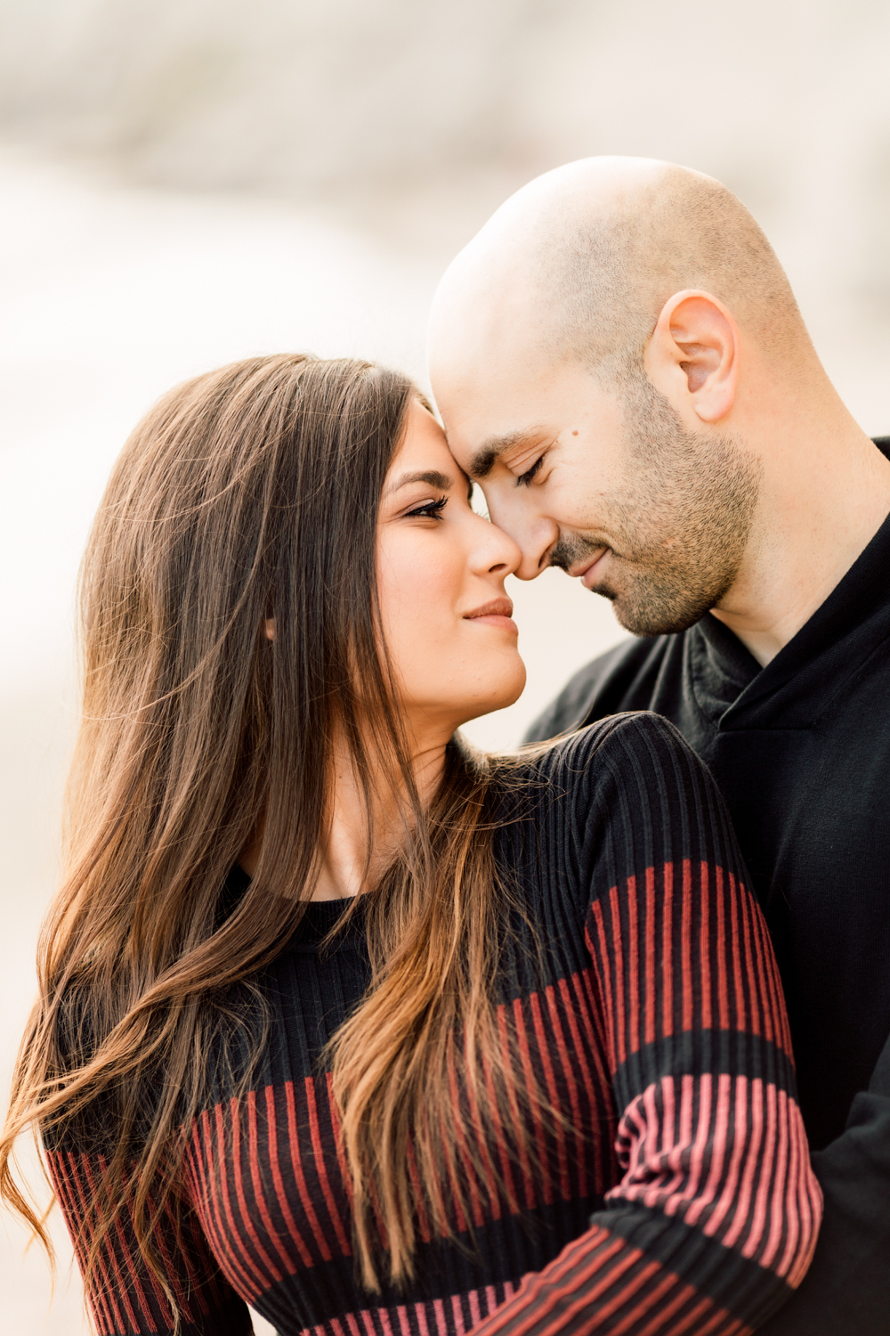 engaged couple portrait