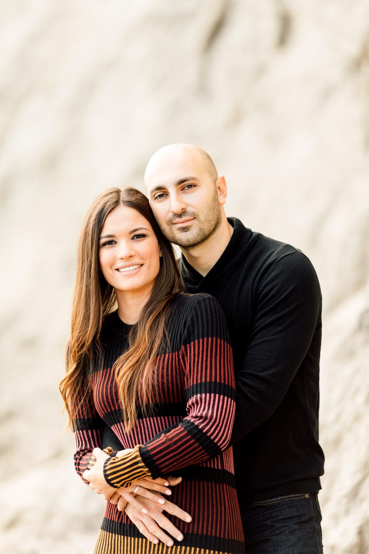 engaged couple portrait