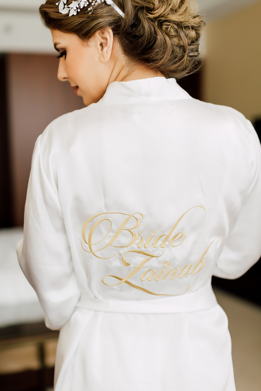 bridal portrait robe