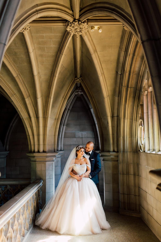 knox college wedding portraits
