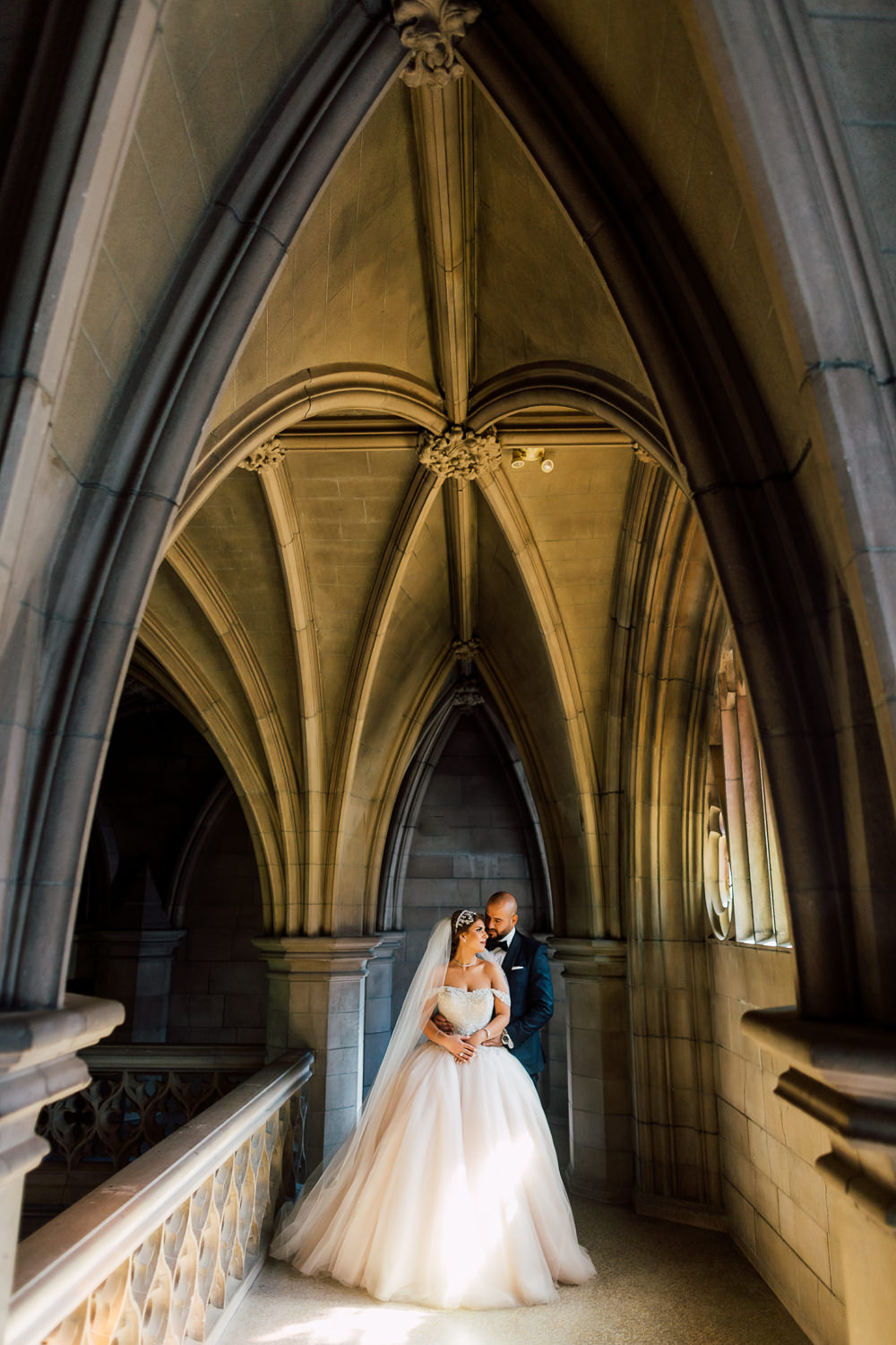 knox college wedding portraits