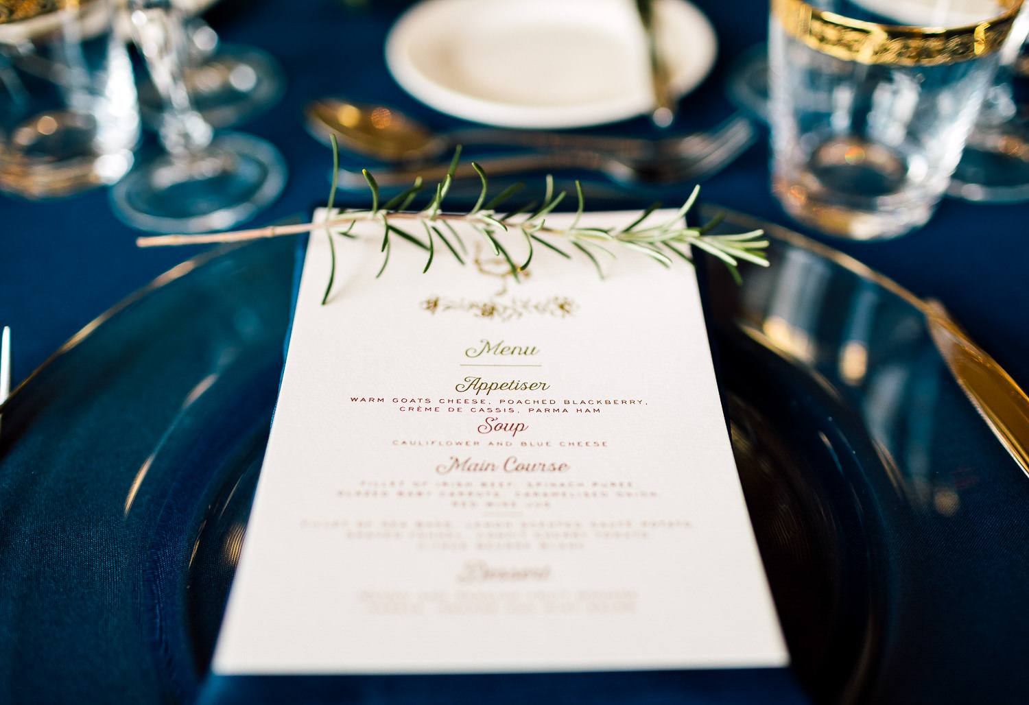 castle catering wedding menu