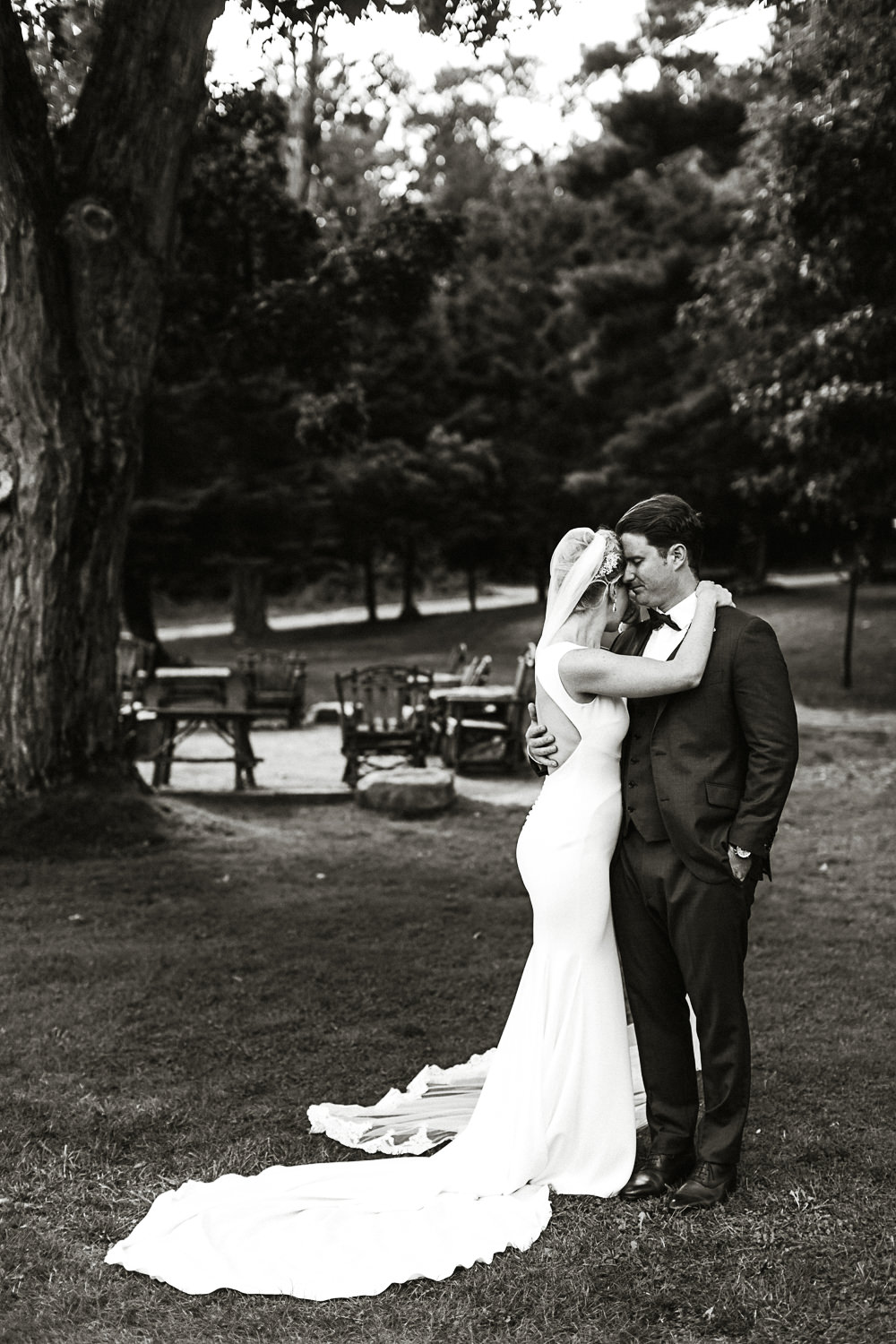 muskoka wedding portrait