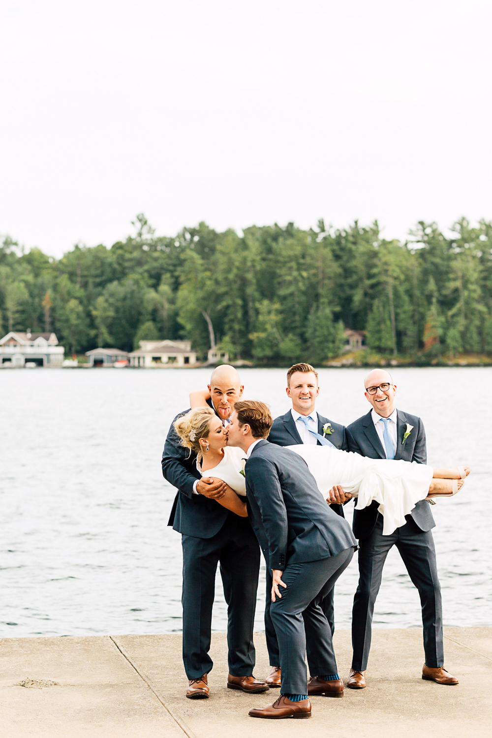 bridal party muskoka lake