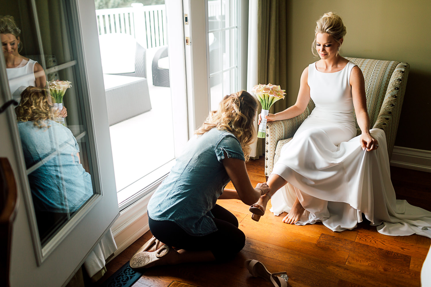 muskoka wedding bridal portrait