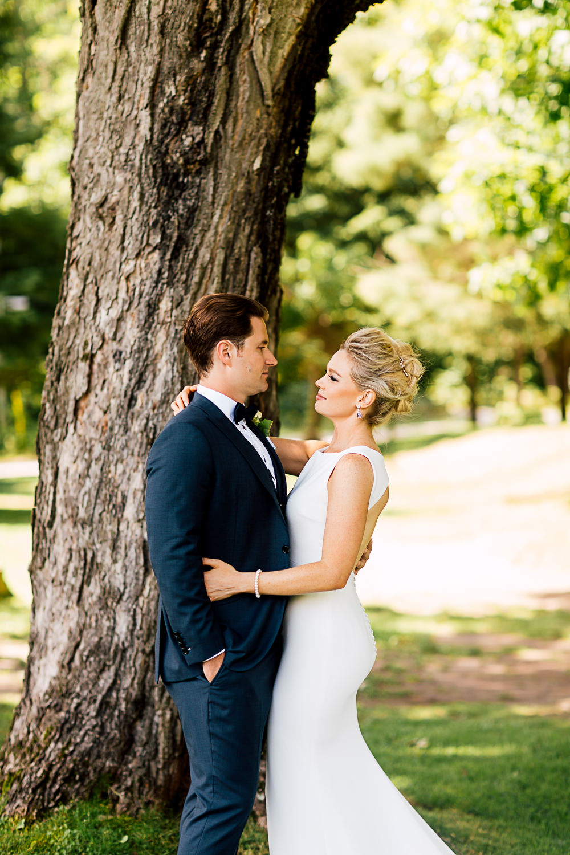 muskoka wedding portrait
