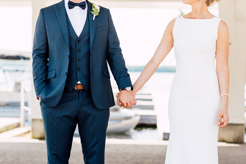 bride and groom muskoka wedding