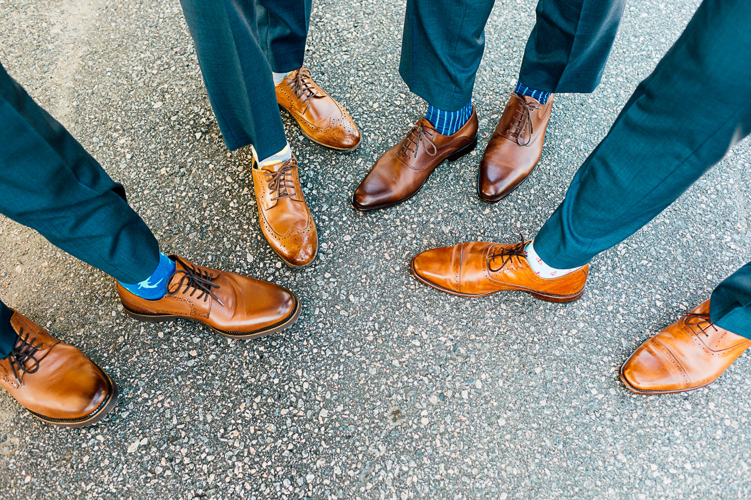 groomsmen and shoes
