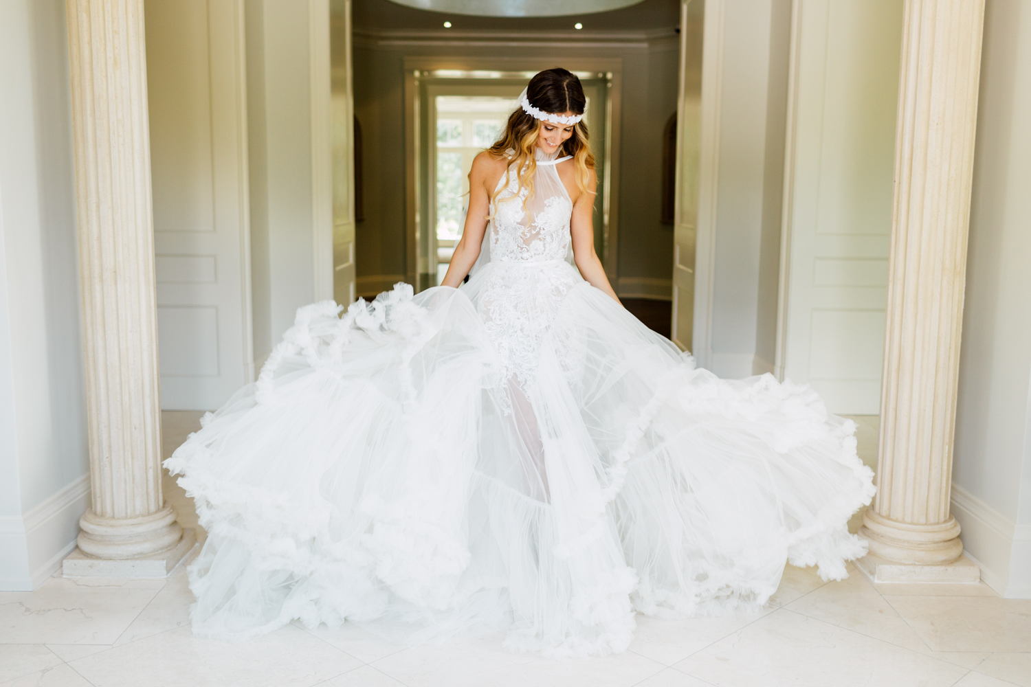 tal kahlon wedding gown