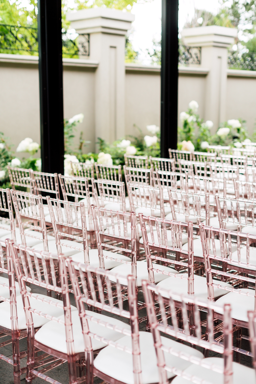 pink chairs ceremony
