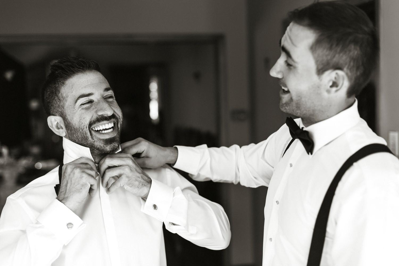 groom getting ready