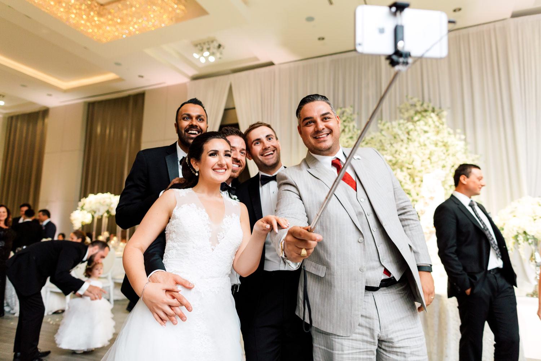 wedding selfie stick