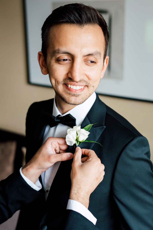 groom morning portrait