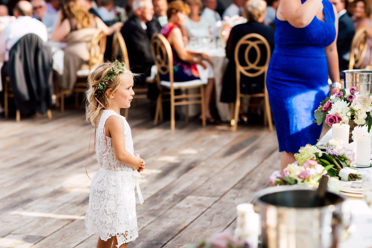 little girl at wedding