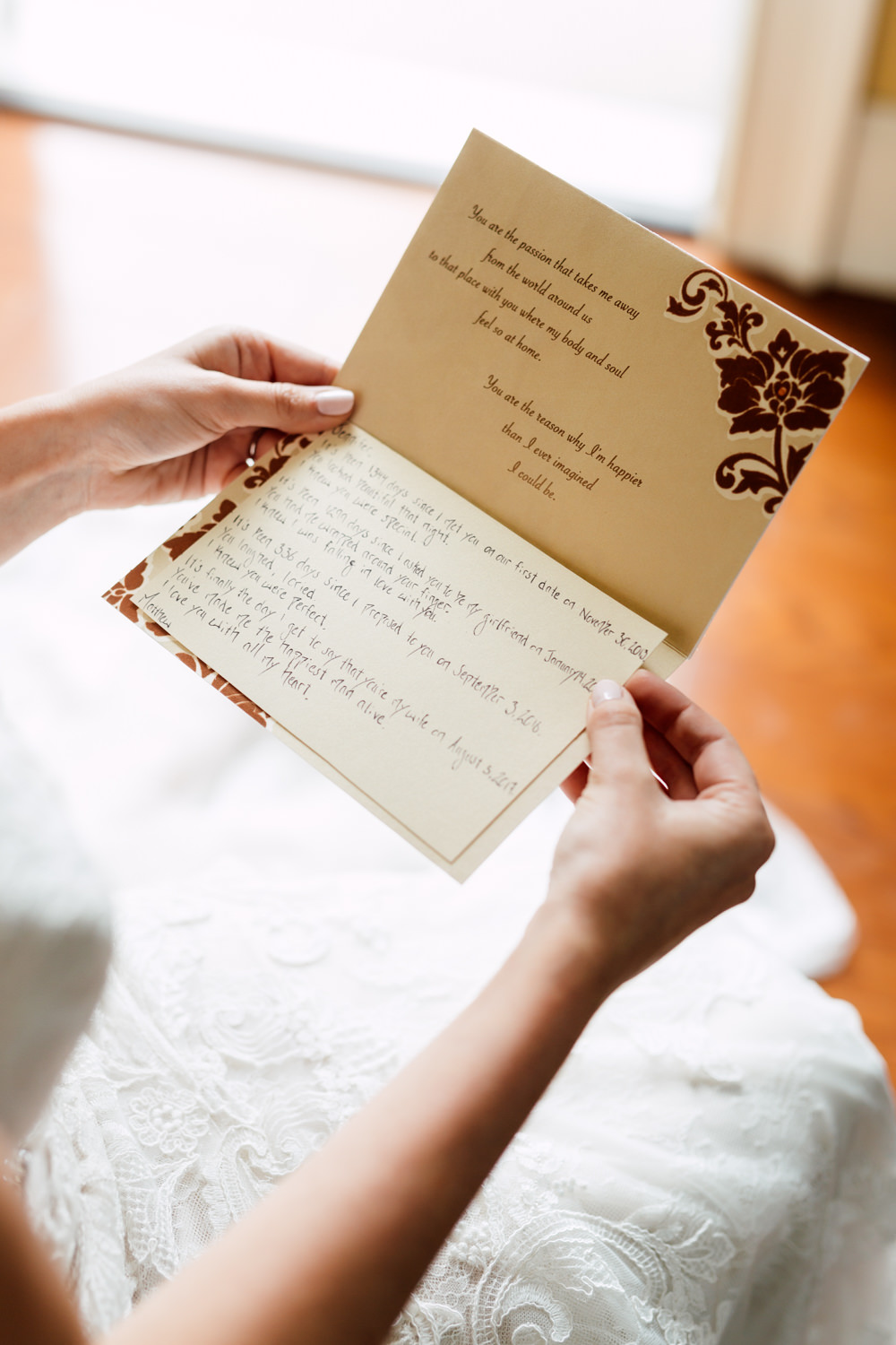 wedding card exchange