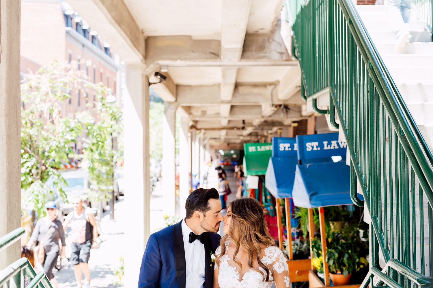 st. Lawrence market wedding