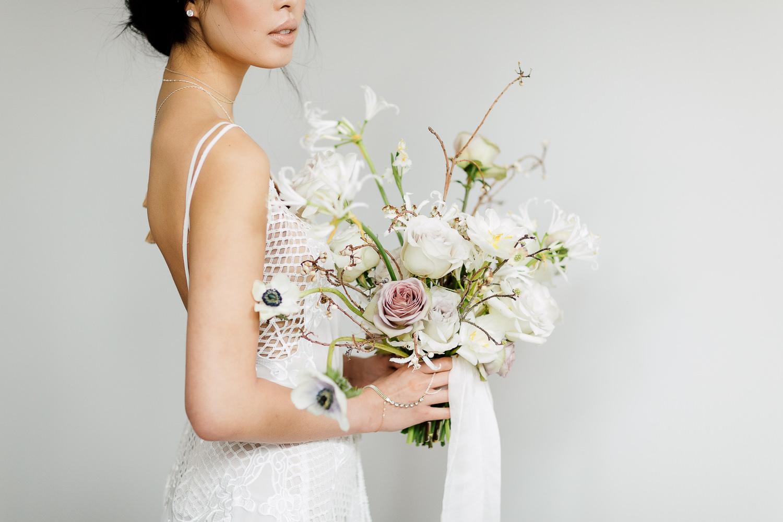 white clean bouquet
