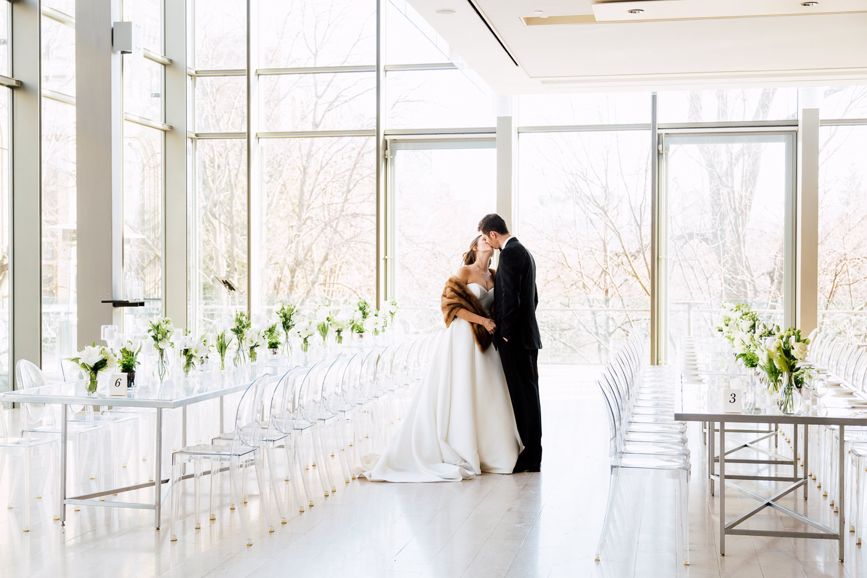 fur wrap wedding dress