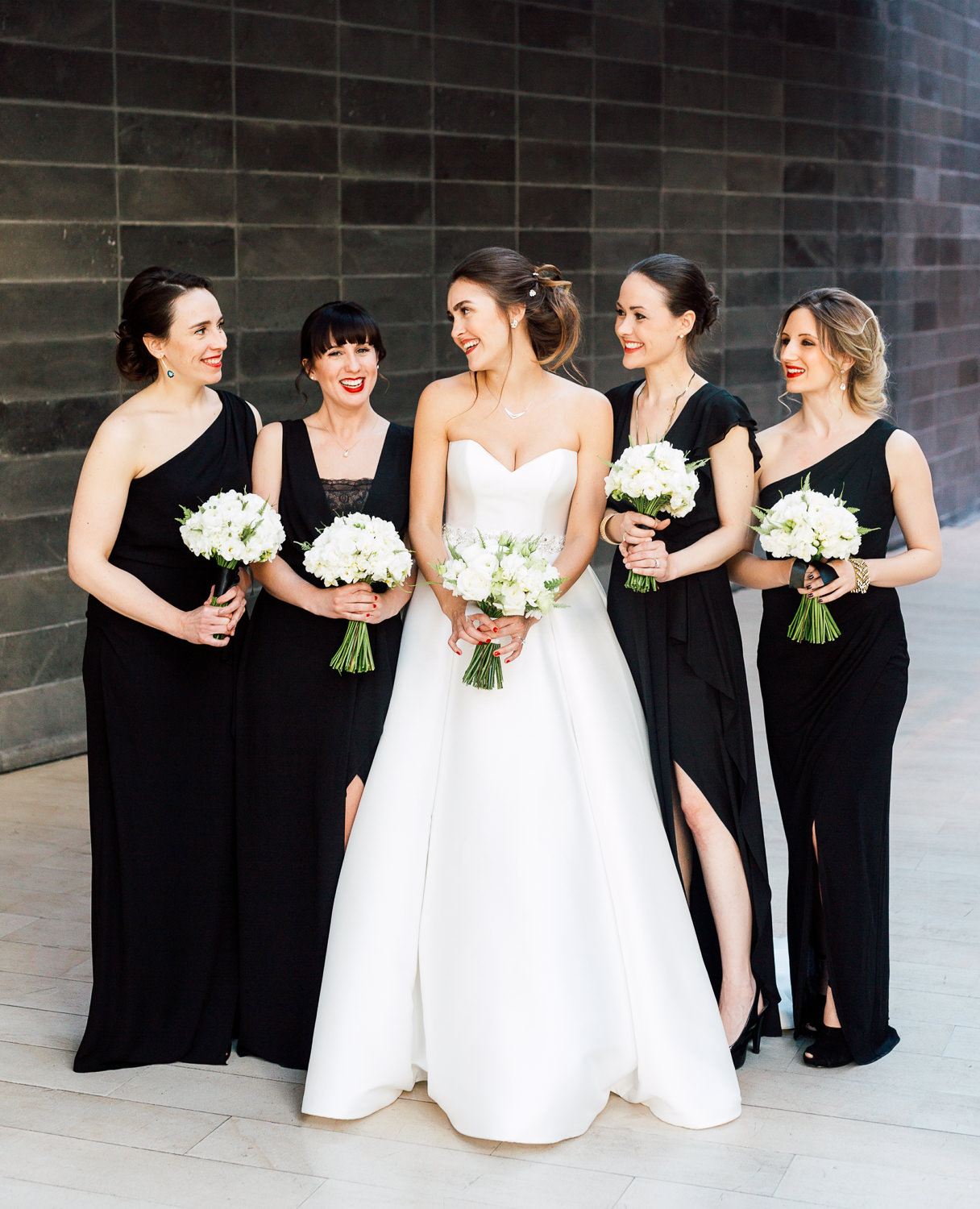 all back bridesmaid dress