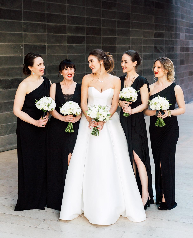 all back bridesmaid dress