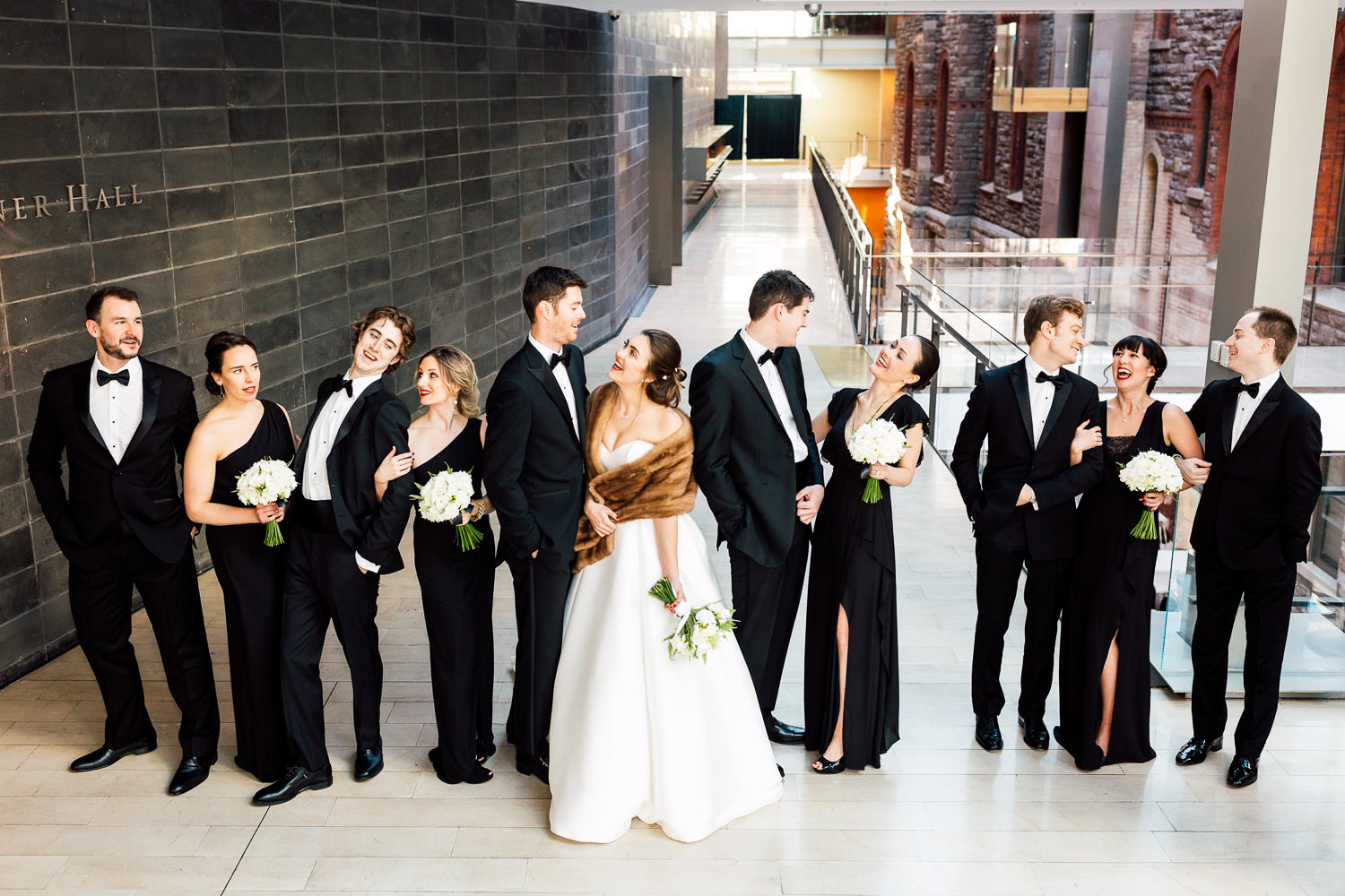 all black bridal party
