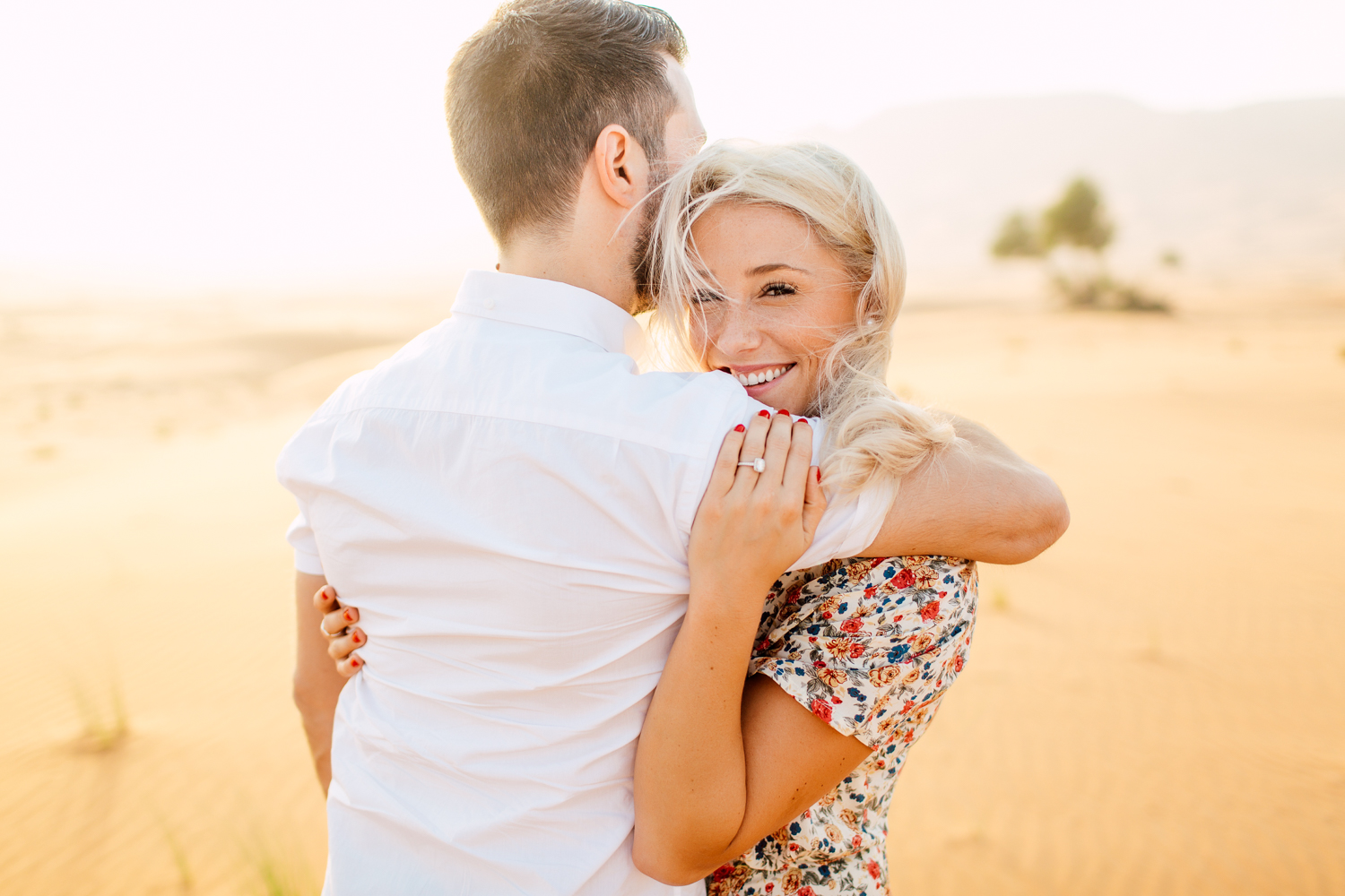 romantic dubai engagement