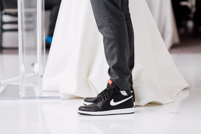 groom's nike sneakers