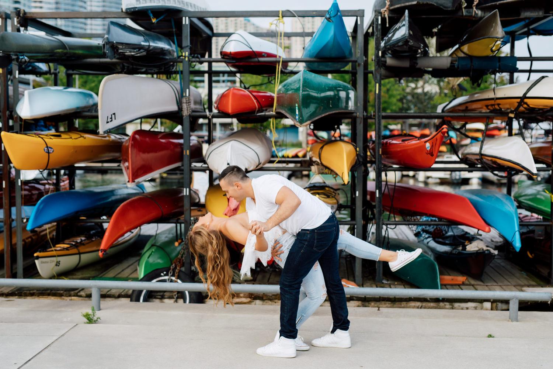 kayak backdrop