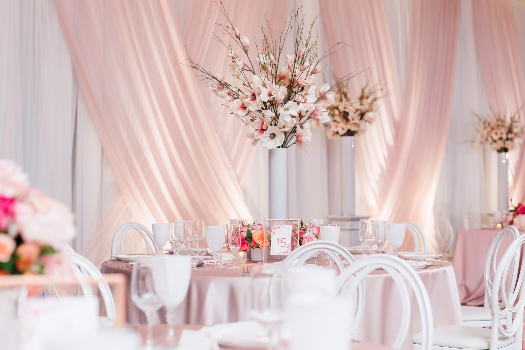 rose petal decor