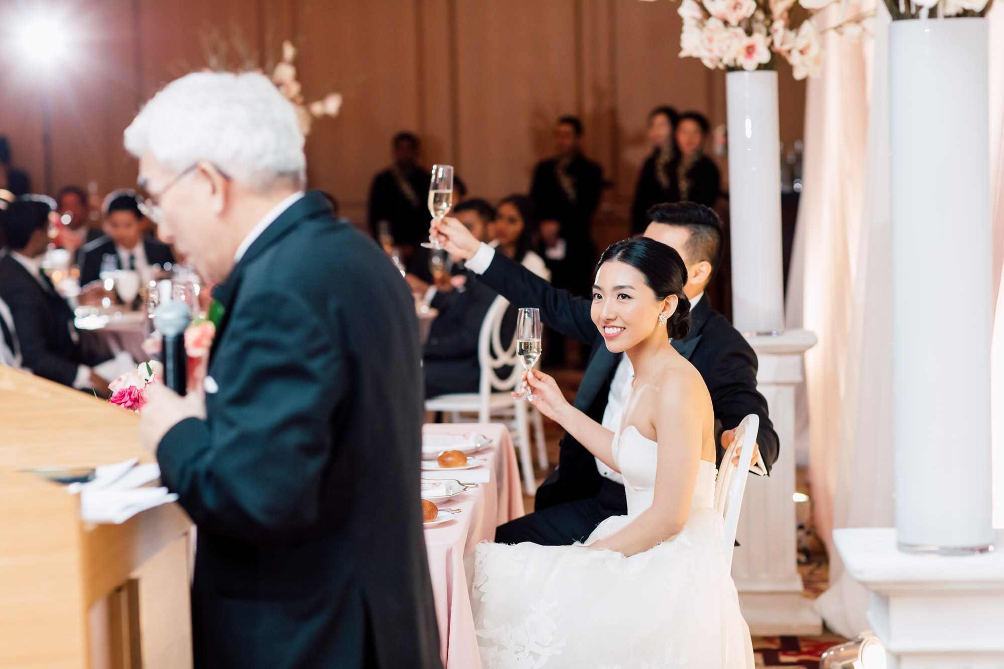 candid wedding photo