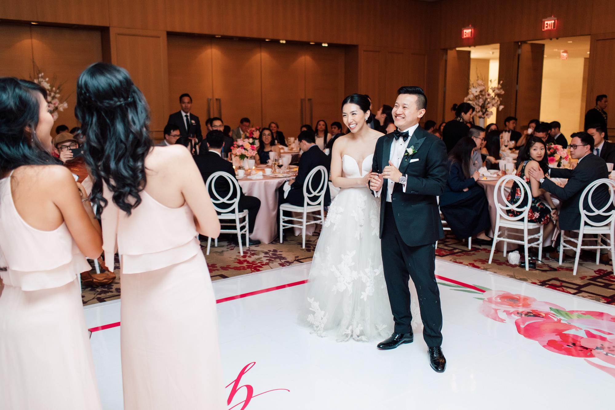 reception wedding guests