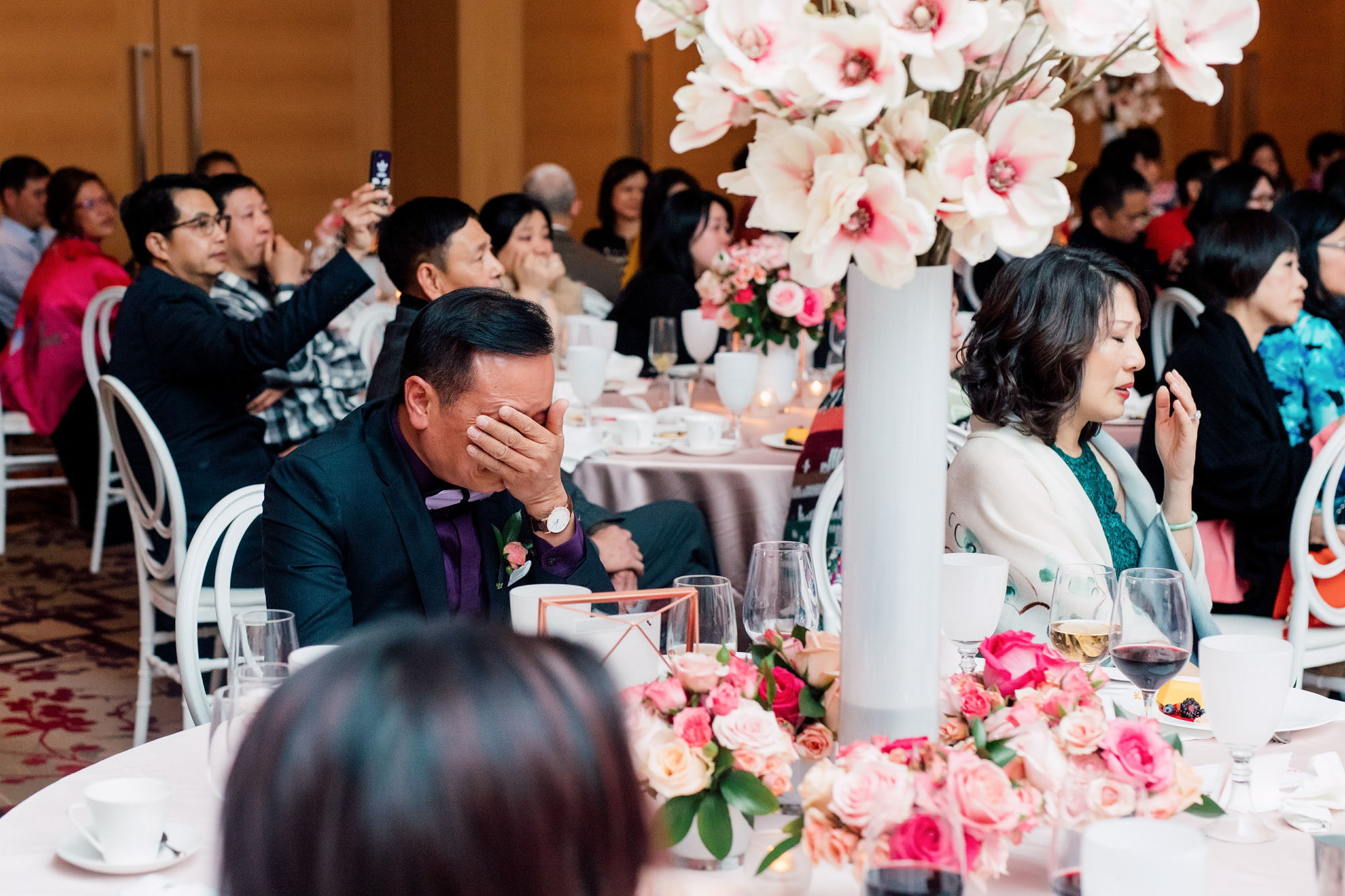 reception candid