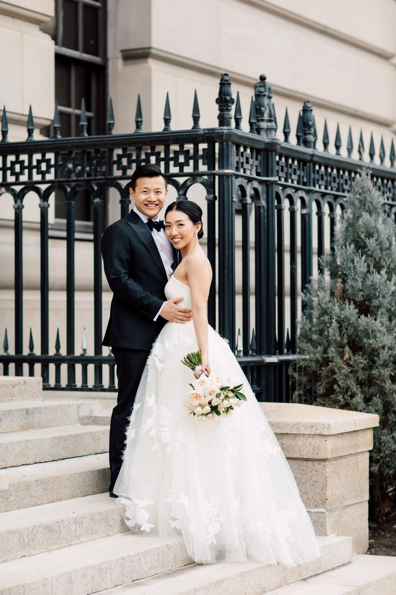 downtown wedding portraits