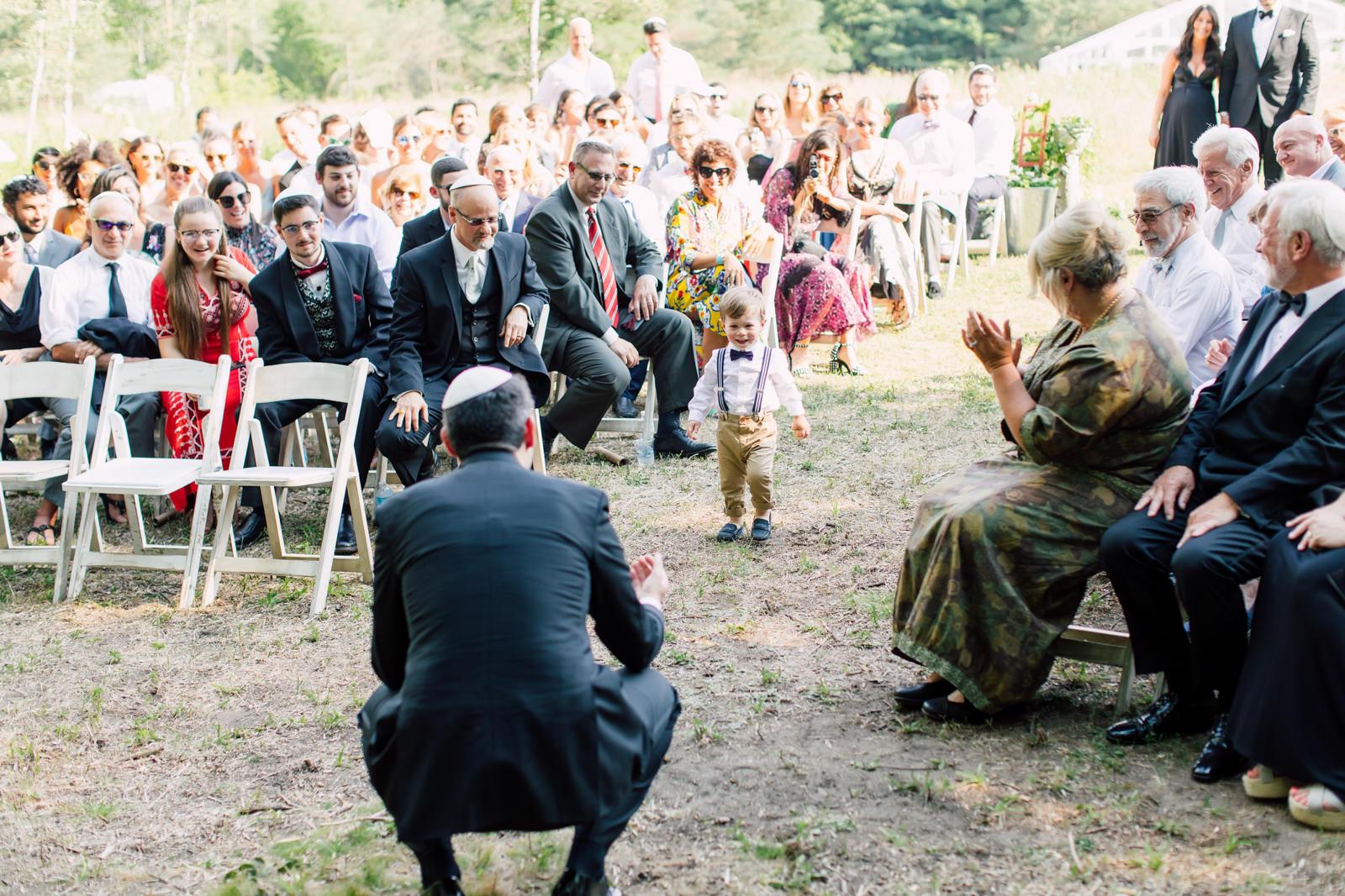 outdoor jewish ceremony