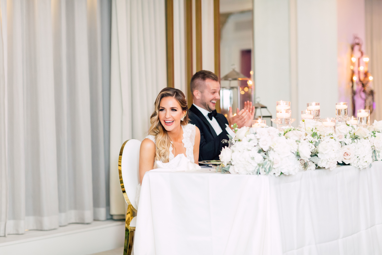 Sweetheart table wedding