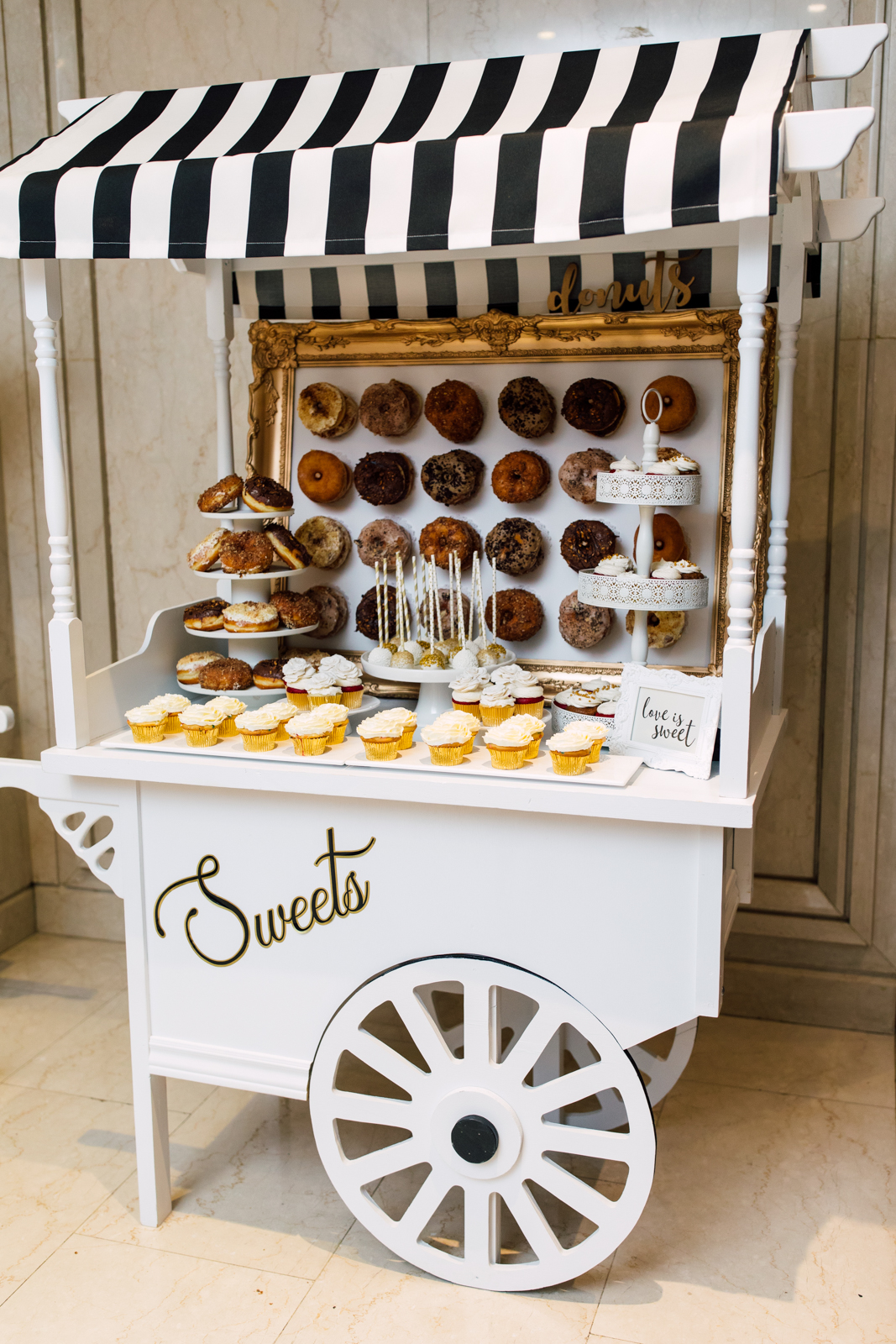 Wedding donut cart