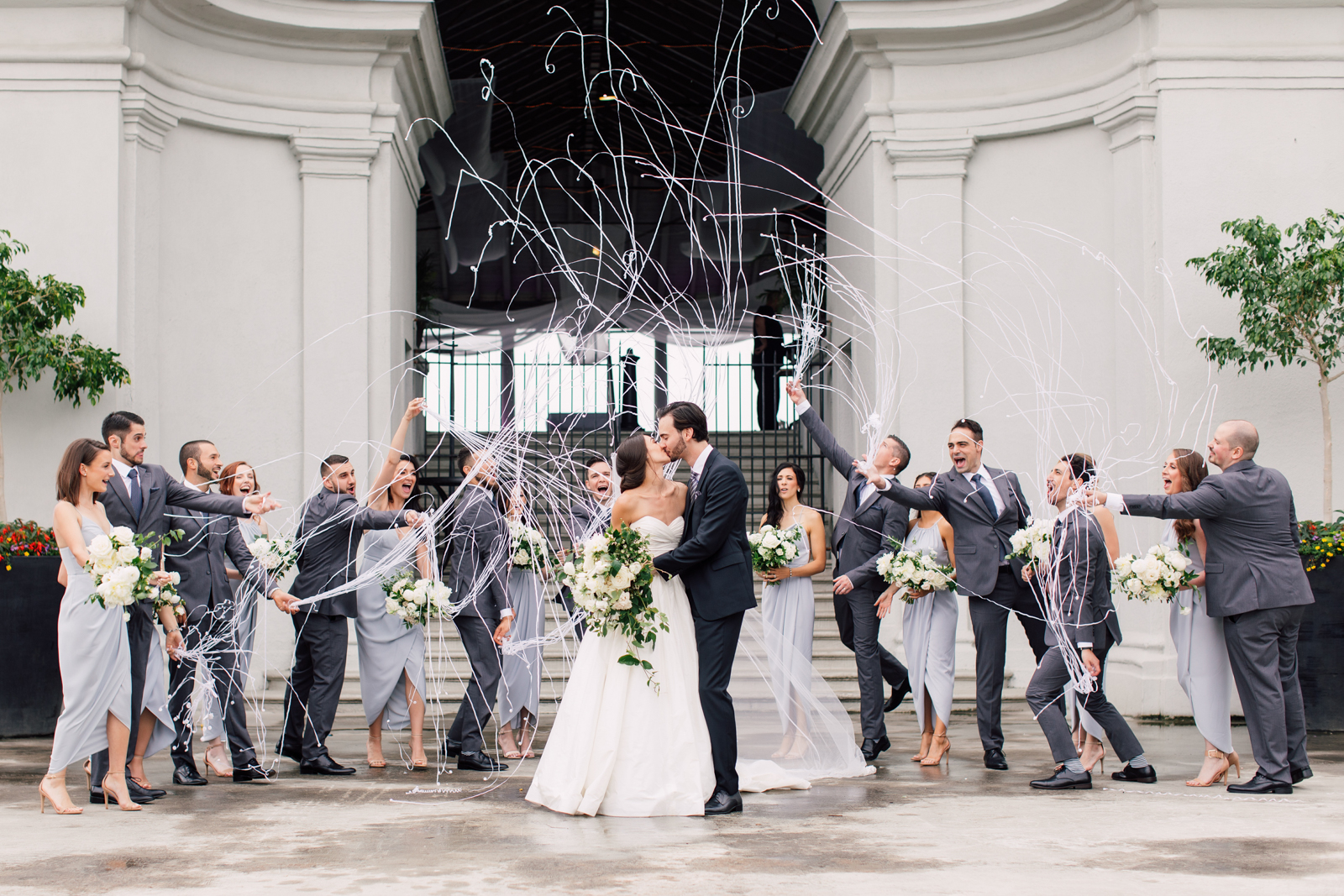 silly string bridal party