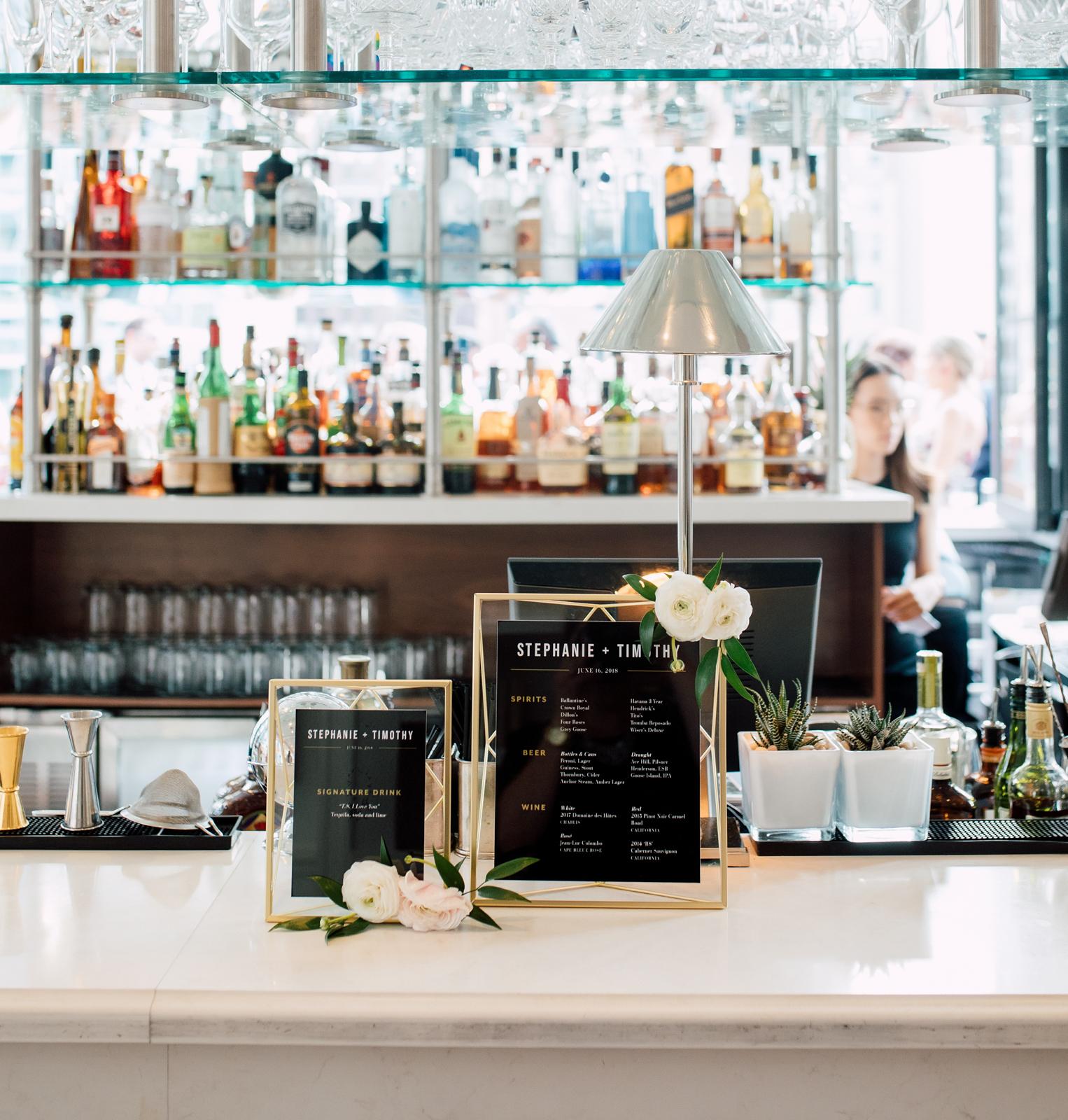 the chase wedding bar