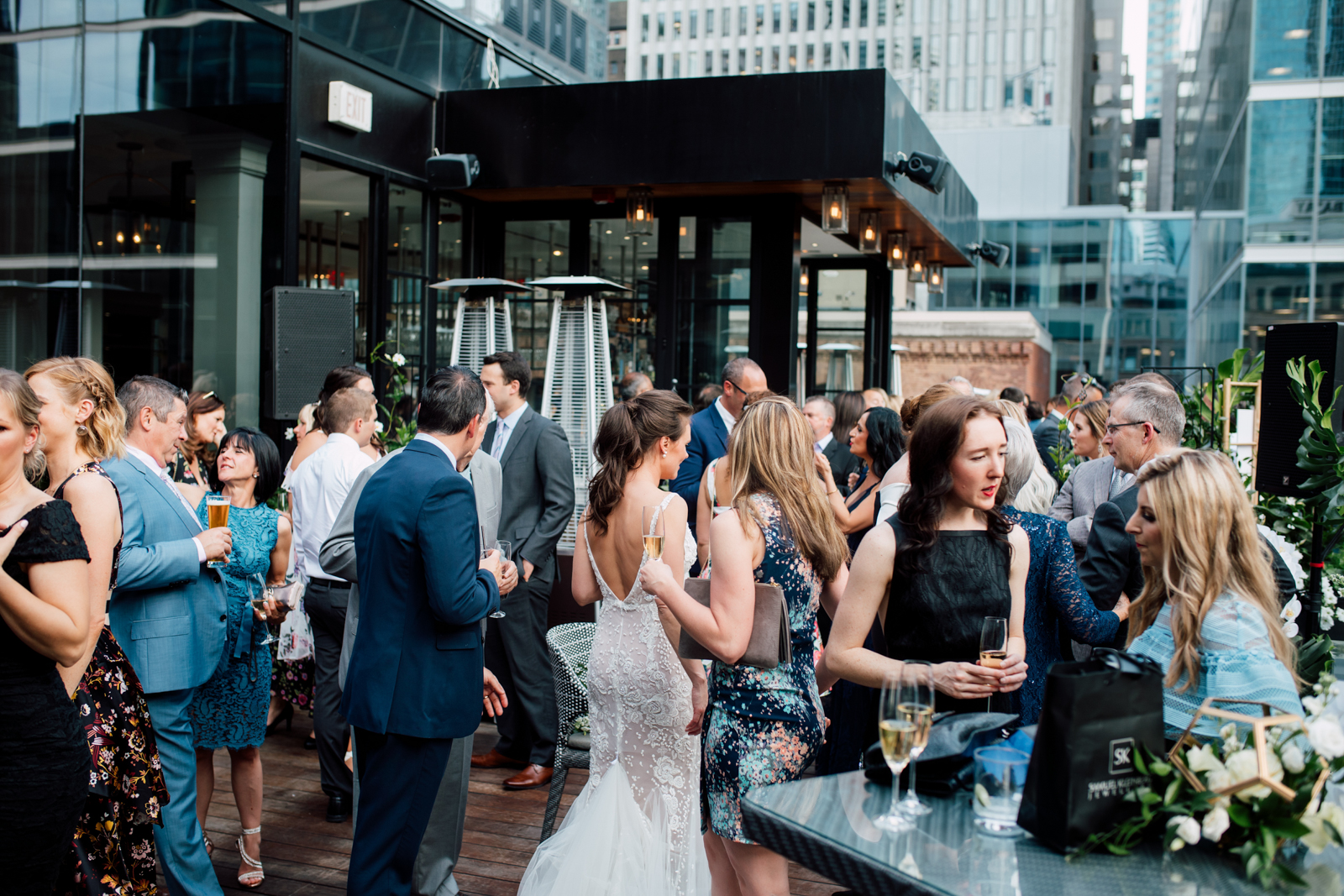 chase rooftop wedding reception