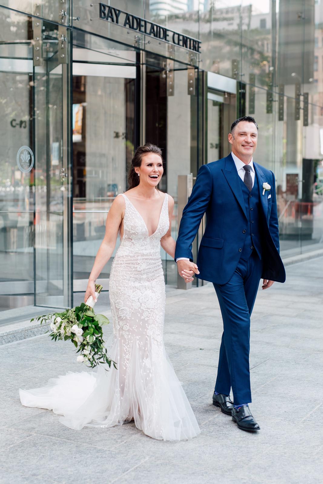 downtown toronto bride and groom