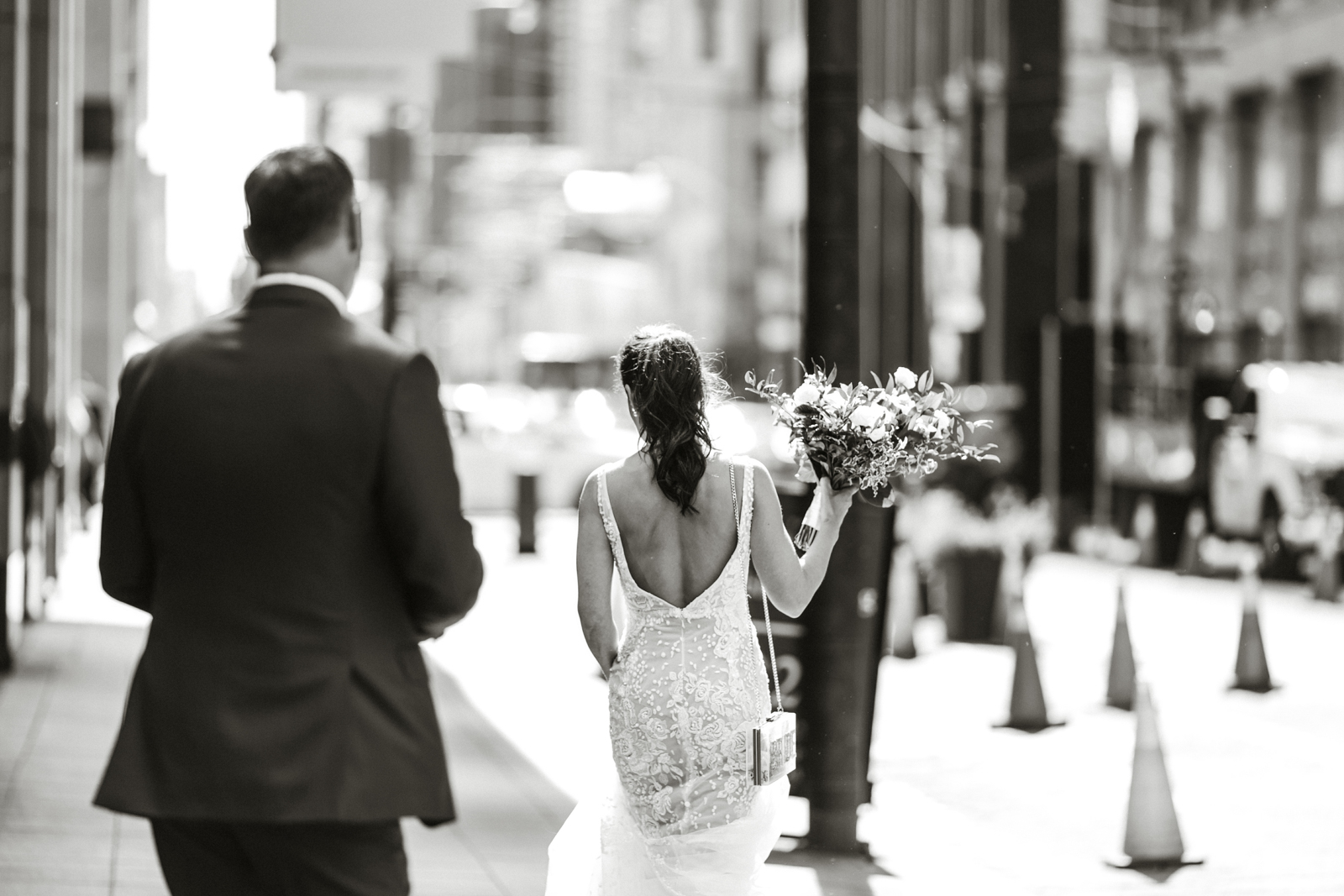downtown toronto bride and groom