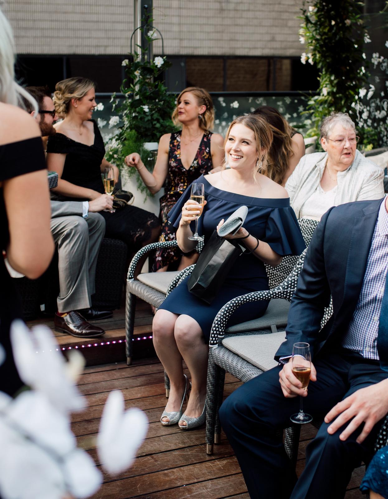 summer terrace wedding